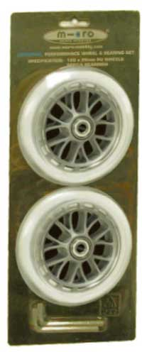 Micro Scooter 100mm Clear Wheels with bearings
