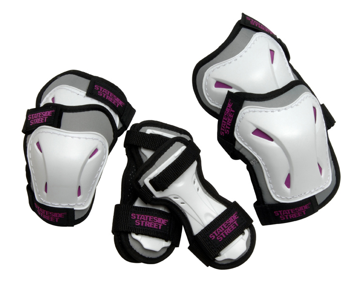 Junior Triple Pad Set - Grey / Pink