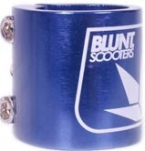 Blunt Triple Clamp - Blue
